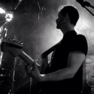 Guitar Player In Black and white