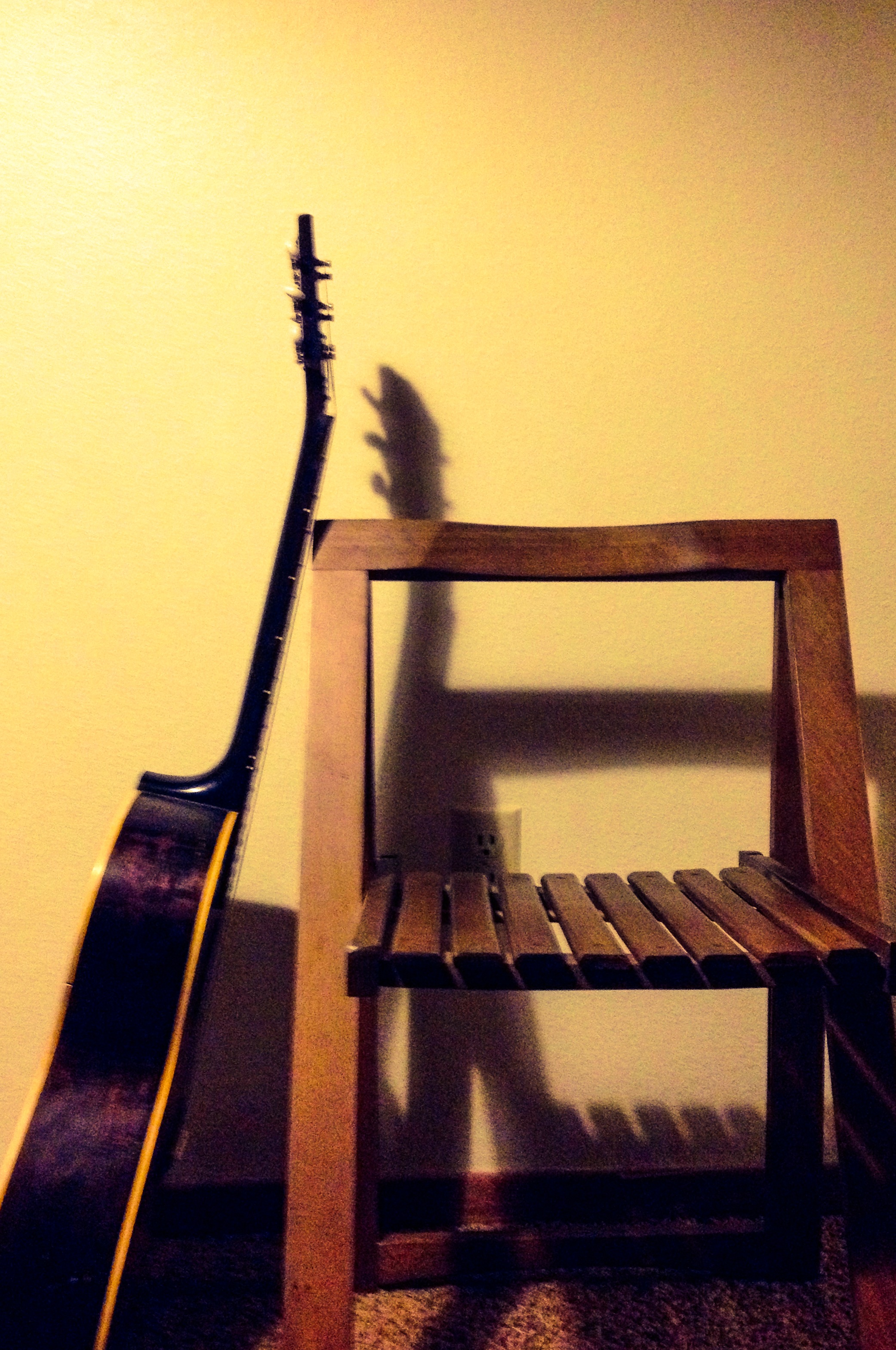 Guitar and Empty Chair
